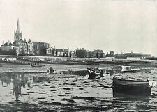 Harwich Essex The Beach At Low Tide 1895 Antique Picture Print #148