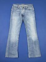 Meltin pot nicole jeans donna usato bootcut zampa flared W28 tg 42 denim T5400
