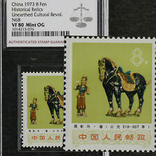 China 1973 8 Fen Historical Relics Unearthed Cultural Revol N68 ASG VF 80