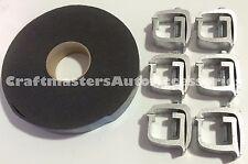 Truck cap / Camper Multipurpose clamp  API #KH1 set of 6 and Foam cap tape combo