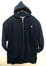 Vintage Champion Reverse Weave Blue Hoodie Shirt C Metal Logo Jacket Mens 3XL