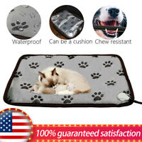 Pet Heating Pad Dog Cat Electric Heated Pad Mat Waterproof Chew Resistant Mat