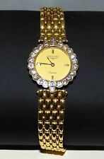 Ladies LONGINES Classique 18KT GOLD 22 Diamond W/Watch 18Kt Strap Wt 47Gr