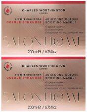 2 x 200ml Charles Worthington 60 Second Colour Boosting Masque Enhancer Mask