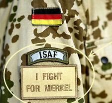 JSOC BUNDESWEHR KSK GERMAN ARMY BASE KUNDUZ SSI: I fight for Merkel w/ ISAF Tab
