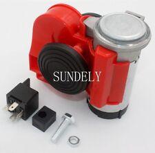 Air Horn Kit 12volt red Car Loud 139dB Brand Air Horn Super Loud New Electric