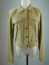 Theory Size Medium Corduroy Jean Jacket Khaki Beige