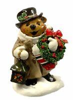 Wee Forest Folk Christmas Glad Tidings Bear Figurine Retired  2007 BB-8 W/Box