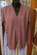 VINTAGE ~ FEMME ~ Mauve Tunic JUMPER/TOP  * Size M  * REDUCED !!