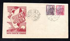 ESPAÑA SPAIN SOBRE DEL AÑO 1951 VISITA DEL CAUDILLO A CANARIAS