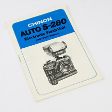 CHINON AUTO S-280 FLASH USER / INSTRUCTION MANUAL / GUIDE