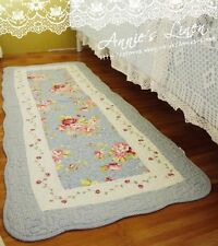 shabby blau country rose victoria laura ashley fa gesteppt bad/bettunterlage/teppich mm03
