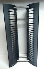 "Atlantic 25 CD Jewel Case Storage Rack Tower Black Smoke Plastic 15.5"" tall"