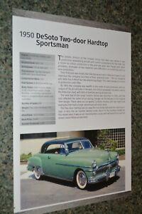 ★★1950 DESOTO SPORTSMAN 2 DOOR HARDTOP INFO SPEC SHEET PHOTO FEATURE PRINT 50★★