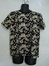Paul Frank Men's Black/Beige Graphic T-Shirt Short Sleeve Crew Neck Size 42