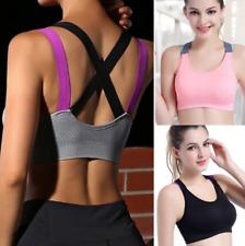 Women Seamless Sports Bra Yoga Padded Stretch Workout Top Tank Comfort