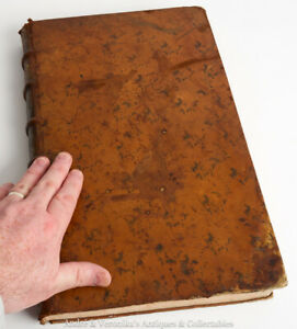 1772 De Re SACRAMENTARIA Latin Antiquarian Book Leather Bound Bible Mass Rare