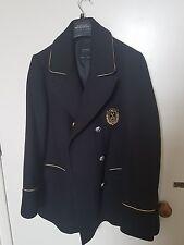 Zara Navy wool Double Breasted coat Jacket size L