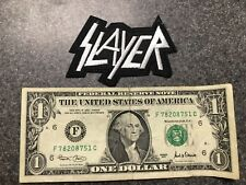 SLAYER THRASH METAL EMBROIDERED PATCH! Free shipping!!