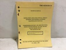 TM 5-4310-354-14. Compressor, Rotary, Diesel, Davey Model 6M125. 1980 Reprint