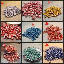 Beads Ceramic Porcelain For Jewelry Making Necklace Colorful 6mm Vintage Charms
