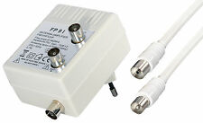 2 Stück Antennenverstärker (2 TV-Geräte, Netzteil, Verstärkung 2x15dB )