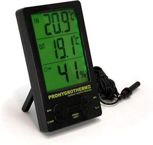 Garden Highpro Premium Digital Thermo-hygrometer with 1.5m Probe Hydroponics