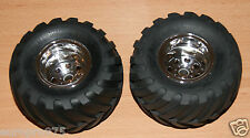 Tamiya 58242 Wild Willy 2/Mad Bull, 9805618/19805618 Front Tire & Wheel (2 Pcs.)