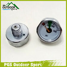 A Lots of 2 Paintball Micro Mini 1500psi Air Pressure Gauge 1/8NPT Threads