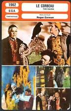 FICHE CINEMA : LE CORBEAU - Price,Lorre,Karloff,Nicholson,Corman 1962  The Raven