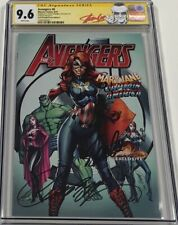 Marvel Avengers #8 Mary Jane Variant Signed by Stan Lee & Campbell CGC 9.6 SS