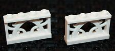 Lego 2x White Fence  1x4  NEW!!!