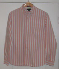 Lands End Mens Striped Sail Rigger Oxford Cloth Btn-down Shirt, L, tailored fit