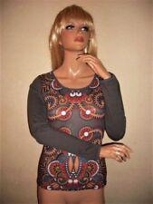 Hippie L Damenblusen, - tops & -shirts mit Rundhals-Ausschnitt