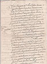 Historische Handschrift Frankreich 1747 Dokument France Manuskript rar