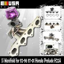 SS Turbo Manifold+38MM Wastegate fits 92-96  97-01 Prelude Sir JDM Type S H22A