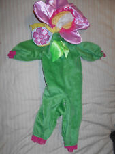 Pink Pansy Halloween Costume Baby Size 0-6 Mos.  Rubies brand, EUC