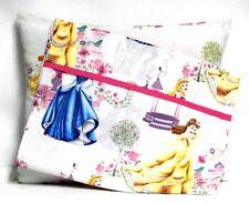Princess Toddler Pillow and Pillowcase on Light Pink Cotton #Pr40 Handmade