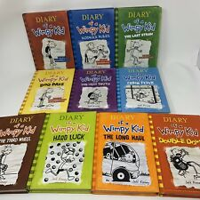 Lot 10 DIARY OF A WIMPY KID Series #1-9 Set & 11 Jeff Kinney Hardcovers