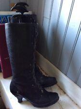 bottes NEOSENS plein  cuir noir .t 36.  (T/D)
