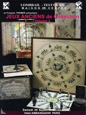 Catalogue de vente Jeux Anciens de Collection Vol. 2