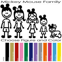 MICKEY MOUSE CUSTOM FAMILY FIGURES DISNEY WINDOWS VINYL DECAL STICKER (MMF-01)
