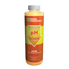 General Hydroponics pH Down 8 oz ounce - concentrat​e acid