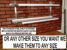 STAINLESS STEEL WALL SHELF NEW DOUBLE SHELVES 1500 mm