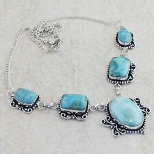 Larimar  Ethnic Jewelry Handmade Necklace 27 Gms AN 8458