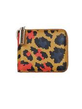 NEW Christopher Kane Leopard print square zip wallet