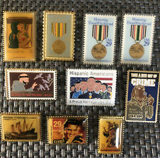 USPS Post Office Stamp Lapel Pins Pinbacks US Postal Service 10 Pc Lot