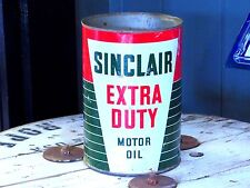 Sinclair 5 quart Extra Duty Motor Oil Can