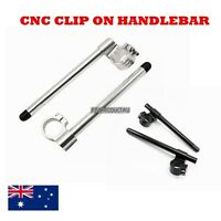 PAIR of Black chrome 33MM CNC High Lift Universal Version Clip Ons On Handlebar