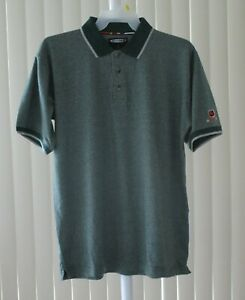 Golf Shirt Polo Shirt Short Sleeve NHL The Coolest Game Green New Size Medium